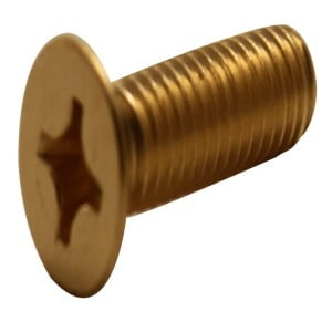 Phillips Flat Machine Screws Brass