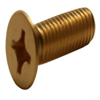 1/4-20 x 2 PHILLIPS FLAT MACHINE SCREW BRASS