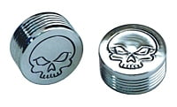 10 PC BAG CHROME 1/4 CAP FOR HEX BOLT SKULL