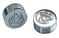 10 PC BAG CHROME 3/8 CAP FOR SHCS FLAME