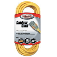 Yellow Jacket Power Cord, 25 ft, 1 Outlet