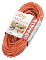 Tri-Source Vinyl Multiple Outlet Cord, 50 ft, 3 Outlets