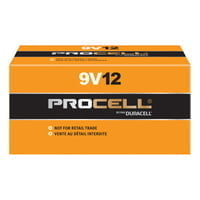 Duracell Procell Batteries, Non-Rechargeable Dry Cell Alkaline, 9V