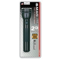LED D-Cell Flashlight, 2 D, Black
