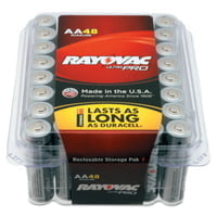 Alkaline Reclosable Batteries, 1.5 V, AA