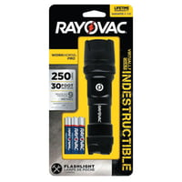 Indestructible Series Flashlight, 3 AAA, 20 to 250 Lumens, Black