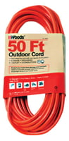 Outdoor Round Vinyl Extension Cord, 25 ft