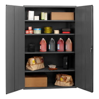 Cabinet, 14 Gauge, 4 Shelves - Gray