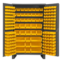 Cabinet, 14 Gauge, 171 Yellow Bins