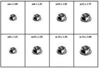 METRIC FLANGE LOCK NUTS