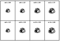 185024 METRIC FLANGE LOCK NUTS