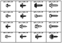 185025 METRIC BODY BOLTS
