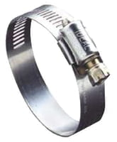 "54 Series Worm Drive Clamp, 2 1/4"" Hose ID, 1 1/8-3""Dia, 201/301 Stainless Steel"