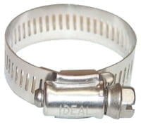 "64 Series Worm Drive Clamp, 1 1/8"" Hose ID, 3/4""-1 3/4"" Dia, Stnls Steel 201/301"