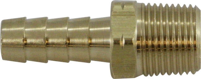 Brass Rigid Male Barb Adapter