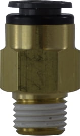 DOT Composite Body Push-In Male Connector