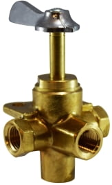 Long Stem 4 Way Valve