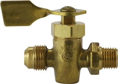 Male Pipe x Flare Solid Bottom Fuel Valve