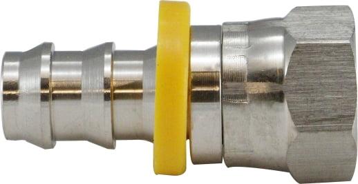 Stainless Steel SAE/JIC 45 Deg/37 Deg Female Swivel