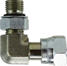 Straight Thread Swivel Nut Elbow