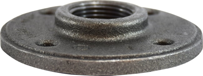 Black Floor Flange