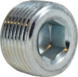 Galvanized Countersunk Plug Hex Socket