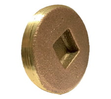 Countersunk Cleanout Plug Southern Code Cast Brass