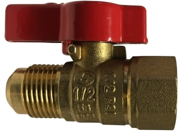 Appliance Connector Valve Female x Flare