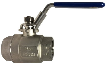 1000 PSI Two Piece Full Port Ball Valve