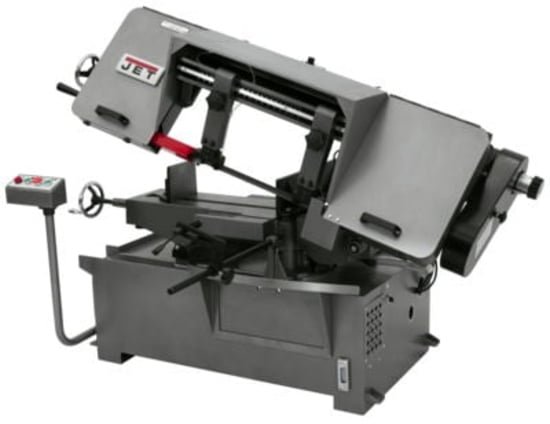 "Jet 8"" and 10"" Dual Mitering Portable Bandsaws"