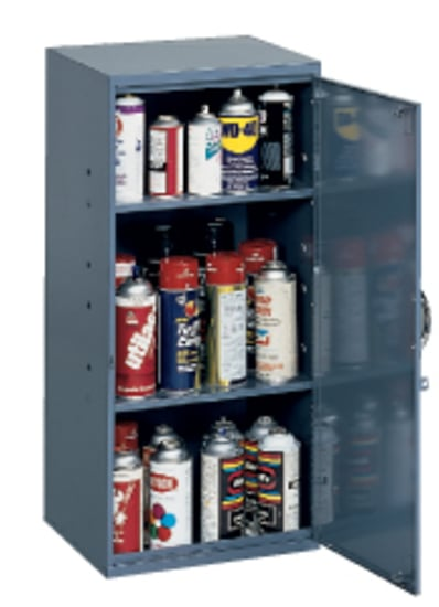 Wall Mountable Aerosol Cabinet, Cabinets Paint Rack, Durham Mfg
