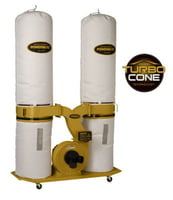 PM1900TX-BK1 Dust Collector, 3HP 1PH 230V, 30-Micron Bag Filter Kit