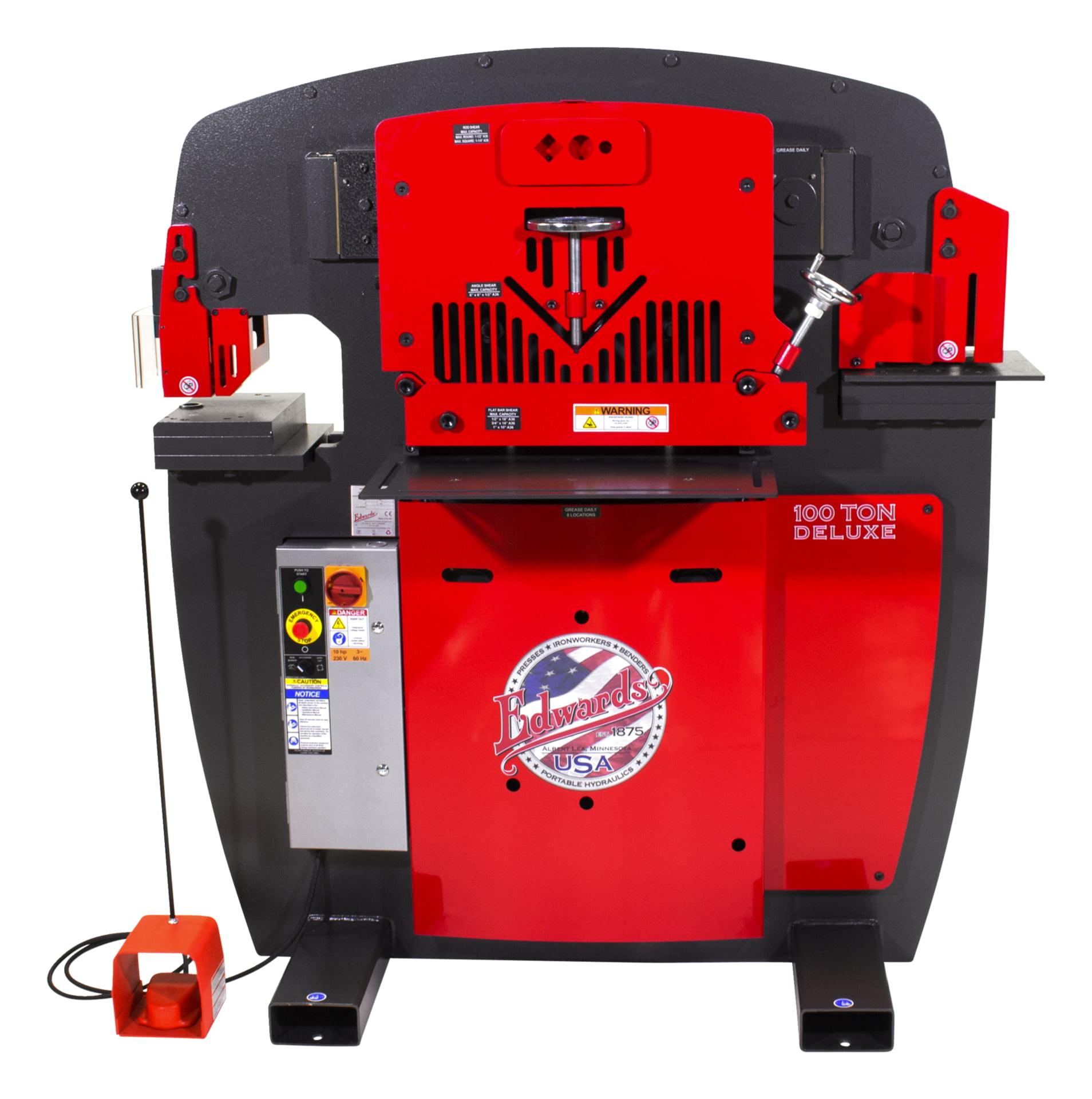 100 Ton Deluxe Ironworker 1 Phase  230 Volt With Powerlink