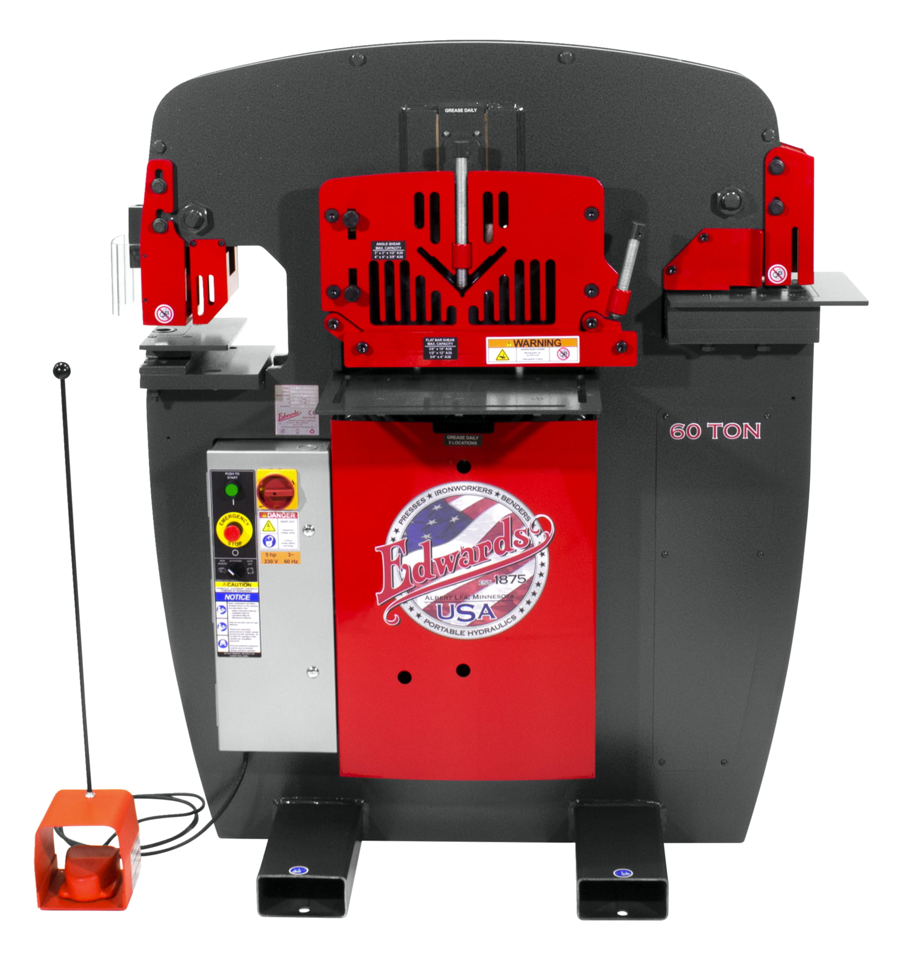 60 Ton Ironworker 1 Phase  230 Volt With Powerlink