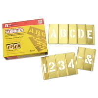 Brass Stencil Letter  Number Sets, Brass, 2 in