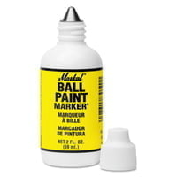 Ball Paint Marker Markers, 1/8 in Tip, Metal Ball Point, Yellow