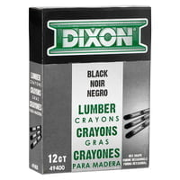 Lumber Crayons, 1/2 in X 4 3/4 in, Carbon Black