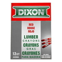Lumber Crayons, 1/2 in X 4 1/2 in, Red