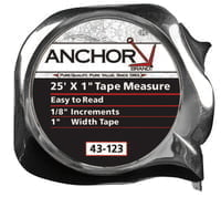 Easy to Read Tape Measures, 1 in x 25 ft, Chrome