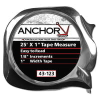 Easy to Read Tape Measures, 1 in x 25 ft, Yellow