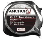 Easy to Read Tape Measures, 1 in x 25 ft, Green