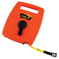 Hi-Viz® Linear Measuring Tapes, 1/2 in x 100 ft, 1/16 in Grad.