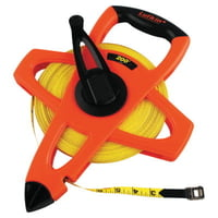 Hi-Viz® Orange Reel Fiberglass Tapes, 1/2 in x 200 ft, 1/8 in Grad.
