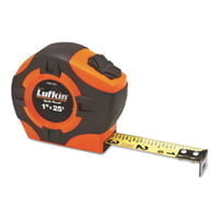 Quickread Power Return Tapes, 1 in x 25 ft, Hi-Viz Orange