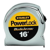 "Powerlock® Tape Rules 1"" Wide Blade w/BladeArmor™, 1 in x 16 ft"