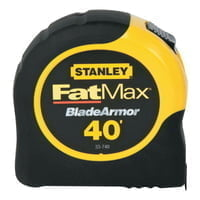 FatMax Reinforced w/Blade Armor Tape Rules, 1 1/4 in x 40 ft, Belt Clip