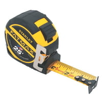 FatMax Reinforced w/Blade Armor Tape Rules, 1 1/4 in x 25 ft, Belt Clip