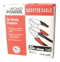 Booster Cables, 2/1 AWG, 20 ft, Black