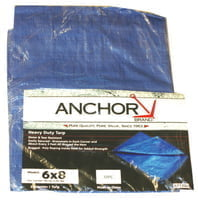 Multiple Use Tarps, 20 ft Long, 20 ft Wide, Polyethylene, Blue