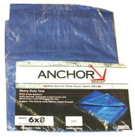 Multiple Use Tarps, 36 ft Long, 24 ft Wide, Polyethylene, Blue